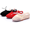 cheap Ballet Shoes-Women's Ballet Shoes Canvas Sneaker Ribbon Tie Flat Heel Customizable Dance Shoes Black / Red / Pink / Indoor / Practice