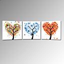 abordables Impresiones-Romance Pop Art Tres Paneles Cuadrado Estampado Decoración de pared Decoración hogareña