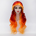 cheap Synthetic Capless Wigs-Synthetic Wig Wavy / Body Wave Synthetic Hair Red Wig Women's Very Long Capless