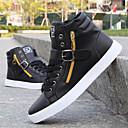 cheap Men's Boots-Men's Shoes Leatherette Winter Vulcanized Shoes Comfort for Casual Black White