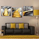 preiswerte Kunstdrucke-Aufgespannte Leinwandrucke Landschaft Drei Paneele Quadratisch Druck Wand Dekoration Haus Dekoration