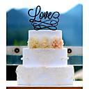 baratos Strass & Decorações-Decorações de Bolo Acrílico Casamento Aniversário Chá de Cozinha com 1 Bolsa Poly