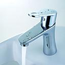 baratos Torneiras de Banheiro-Moderna Conjunto Central Válvula Cerâmica Uma Abertura Cromado
