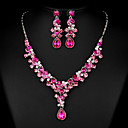 cheap Jewelry Sets-Women's Cubic Zirconia / Rhinestone Jewelry Set - Others Fuchsia