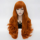 cheap Anime Action Figures-loita long wavy hair cosplay wig heat resist synthetic party hair orange Halloween