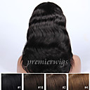 cheap Human Hair Wigs-Human Hair Lace Front Wig Body Wave Wig 130% Hair Density Natural Hairline African American Wig 100% Hand Tied Women's Medium Length Long Human Hair Lace Wig Premierwigs