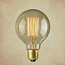 baratos Incandescente-1pç 40 W E26 / E26 / E27 G80 Branco Quente 2300 k Incandescente Vintage Edison Light Bulb 220-240 V / 110-130 V