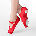 cheap Ballet Shoes-Women's Ballet Shoes Fabric Flat Flat Heel Non Customizable Dance Shoes White / Red / Pink / Kid's / Leather