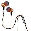 baratos Artigos de Forno-Plextone No ouvido Com Fio Fones Aluminum Alloy Celular Fone de ouvido Com controle de volume / Com Microfone Fone de ouvido