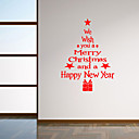 cheap Christmas Decorations-Landscape Romance Fashion Shapes Christmas Decorations Botanical Cartoon Words & Quotes Holiday Wall Stickers Plane Wall Stickers