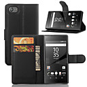 cheap Cell Phone Cases & Screen Protectors-Case For Sony Xperia Z5 / Sony Xperia Z3 / Sony Xperia Z3 Compact Xperia Z5 / Xperia Z3 / Sony Case Card Holder / Wallet / with Stand