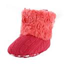 baratos Sapatos de Bebês-Para Meninos / Para Meninas Sapatos Pêlo / Tecido Inverno Conforto / Primeiros Passos Botas Velcro para Preto / Branco / Marrom