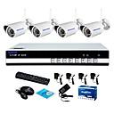 billige Lær-szsinocam® 4-tommers wifi h.264 nvr kit (4 stk trådløs 1,0 m 3,6 mm dag nattsyn værbestandig ip kamera), p2p