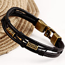 cheap Men's Bracelets-Leather Bracelet - Unique Design, Vintage, Casual Bracelet Black / Brown For Christmas Gifts
