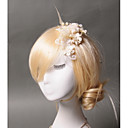 cheap Party Headpieces-Tulle Imitation Pearl Feather Hair Clip 1 Wedding Special Occasion Casual Headpiece