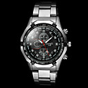 cheap Dress Watches-Men's Wrist Watch Casual Watch Alloy Band Charm Silver