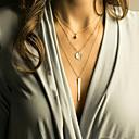 preiswerte Armband-Uhren-Damen Mehrschichtig Layered Ketten - vergoldet Mehrlagig Gold, Silber Modische Halsketten Schmuck Für