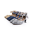 cheap Latin Shoes-Women's Modern Ballroom Sparkling Glitter Paillette Leatherette Synthetic Sandal Sneaker Heel Indoor Professional Beginner Practice