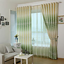 cheap Curtains Drapes-Rod Pocket Grommet Top Tab Top Double Pleat Pencil Pleat Two Panels Curtain Modern Designer European Baroque Rococo Mediterranean