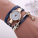 cheap Lip Sticks-Women's Bracelet Watch Casual Watch / Imitation Diamond PU Band Casual / Bohemian / Fashion Black / White / Blue / One Year / Tianqiu 377