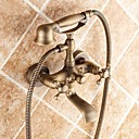 cheap Shower Faucets-Bathtub Faucet - Traditional Antique Brass Tub And Shower Ceramic Valve
