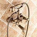 baratos Duchas & Acessórios-Torneira de Banheira - Tradicional Latão Antiquado Banheira e Chuveiro Válvula Cerâmica