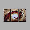 olcso Sütiformák-Hang festett olajfestmény Kézzel festett - Absztrakt Modern Vászon
