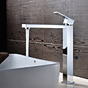 baratos Torneiras de Banheiro-Torneira pia do banheiro - Rotativo Cromado Conjunto Central Uma Abertura / Monocomando e Uma Abertura / Latão