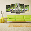 preiswerte Kunstdrucke-Landschaft Menschen Photografisch Modern, Fünf Panele Horizontal Druck Wand Dekoration Haus Dekoration