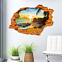 preiswerte Wand-Sticker-Landschaft Romantik Mode 3D Wand-Sticker 3D Wand Sticker Dekorative Wand Sticker, PVC Haus Dekoration Wandtattoo Wand