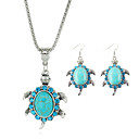 cheap Religious Jewelry-Crystal Beads Jewelry Set - Turquoise Cute Include Blue For Party / Birthday / Engagement / Earrings / Necklace