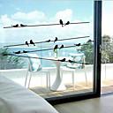 levne Samolepky na zeď-Okno nálepka klasický, zvíře 57 cm * 11 cm