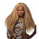 cheap Human Hair Wigs-Synthetic Wig Curly Synthetic Hair Blonde Wig Women's Long Capless