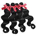 halpa Aitohiusperuukit-4 pakettia Malesialainen Runsaat laineet Aidot hiukset Hiukset kutoo Hiukset kutoo Hiukset Extensions