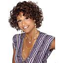 billige Kostymeparykk-Syntetiske parykker Krøllet Syntetisk hår Afroamerikansk parykk Brun Parykk Dame Kort Lokkløs Brun