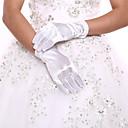 preiswerte Handschuhe für die Party-Elasthan / Polyester Handgelenk-Länge Handschuh Klassisch / Brauthandschuhe / Party / Abendhandschuhe Mit Einfarbig