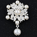 cheap Brooches-Women's - Imitation Diamond Ladies, Luxury, Vintage, Fashion Brooch Jewelry White For Wedding / Party / Special Occasion / Masquerade / Engagement Party / Prom