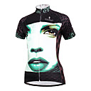 cheap Jewelry Sets-ILPALADINO Women's Short Sleeve Cycling Jersey - White / Black Bike Jersey, Quick Dry, Ultraviolet Resistant, Breathable Polyester