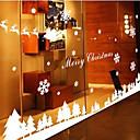 baratos Casa de Férias Têxtil-Art Deco Moderna Adesivo de Janela, PVC/Vinil Material Decoração de janela Sala de Jantar Quarto Escritório Quarto das Crianças Sala de