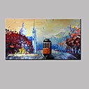 cheap Oil Paintings-Oil Painting Hand Painted - Famous Modern Canvas