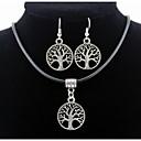 baratos Braceletes-Homens / Mulheres Conjunto de jóias Brincos / Colares - Prata Para Diário / Casual