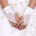 povoljno Cvijeće za vjenčanje-Spandex Do zapešća Rukavica Rukavice za mladenku / Rukavice za zabave S Biser