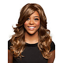 preiswerte Synthetische Perücken ohne Kappe-Synthetische Perücken Wellen Synthetische Haare Braun Perücke Damen Medium Kappenlos