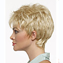 cheap Synthetic Capless Wigs-Synthetic Wig Wavy Blonde Synthetic Hair Blonde Wig Women's Short Capless