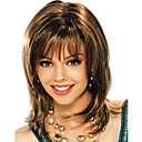 hesapli HDMI-Sentetik Peruklar Kadın's Düz Kahverengi Sentetik Saç Kahverengi Peruk Orta Bonesiz Kahverengi
