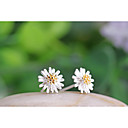 cheap Egg Tools-Women's Stud Earrings - Sterling Silver, Silver Flower, Daisy White / Yellow For Wedding / Party / Daily