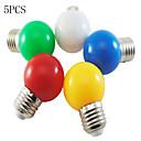 billige Flomlys-5pcs 1 W 50-100 lm E26 / E27 LED-globepærer G45 8 LED perler SMD 2835 Dekorativ Hvit / Rød / Blå 220-240 V / 5 stk. / RoHs