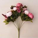 ieftine Flor Artificiales-Flori artificiale 1 ramură Stil European Bujori Față de masă flori