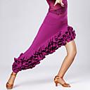 abordables Ropa para Danza del Vientre-Baile Latino Tutús y Faldas Mujer Entrenamiento / Rendimiento Viscosa Recogido Falda / Danza Latina