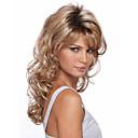 billige Hårstykker-Syntetiske parykker Krøllet Blond Syntetisk hår Blond Parykk Dame Medium Lengde Lokkløs Blond